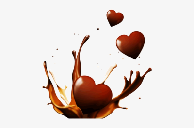 Chocolate Splash Hearts - Liquid Chocolate Splash Png - 500x500 ...