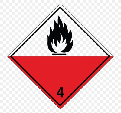 Combustibility And Flammability Label Dangerous Goods HAZMAT Class ...