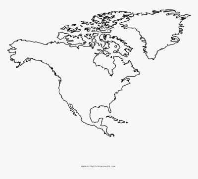North America Coloring Page Outline Map Of Usa Canada - Map, HD ...