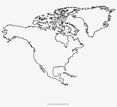 North America Coloring Page Outline Map Of Usa Canada - North ...