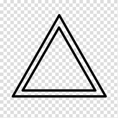 Penrose triangle Shape Computer Icons, blending triangle shapes ...