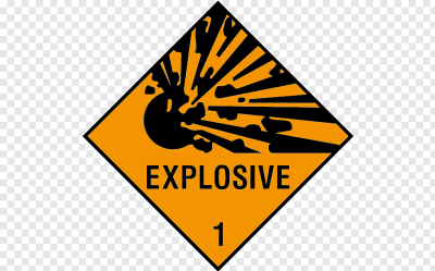 Sticker Decal Explosive material Dangerous goods Hazard symbol ...