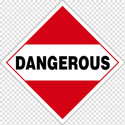 Dangerous goods Placard HAZMAT Class 8 Corrosive substances ...