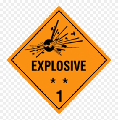 Transporting Class 1 Dangerous Goods - Road Work Ahead Sign - Free ...