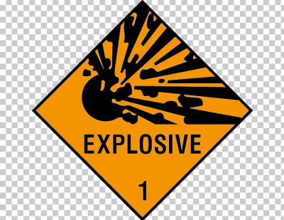 Sticker Decal Explosive Material Dangerous Goods Hazard Symbol PNG ...