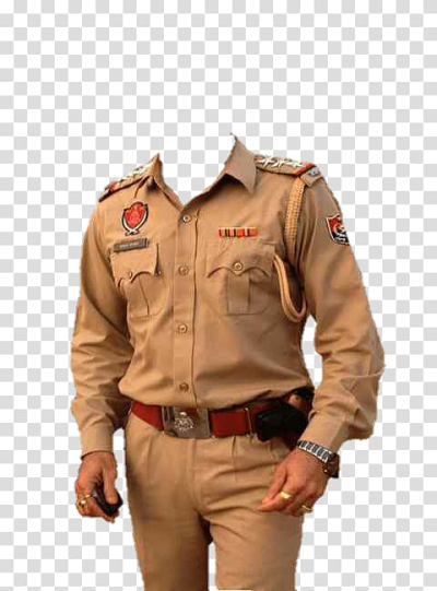 Person in brown uniform illustration, Sub-inspector Madhya Pradesh ...