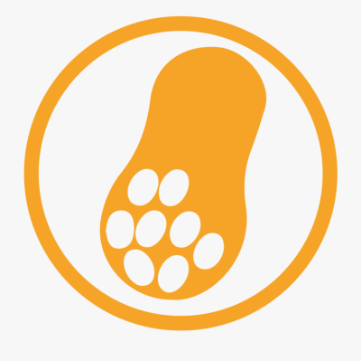 Peanut Allergy Amber Icon - Allergy Food Icon Png , Transparent ...
