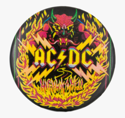 Ac/dc Highway To Hell Music Button Museum - Artwork Ac Dc Highway ...