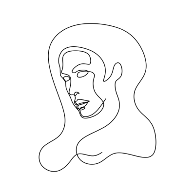 Abstract Face One Line Drawing Portrait #1770188 - PNG Images - PNGio