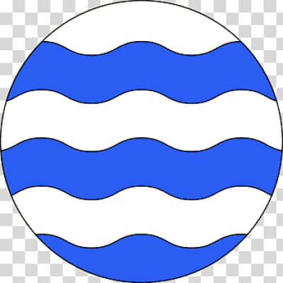 Fountain Heraldry Roundel Line Canting arms, line, blue, charge ...