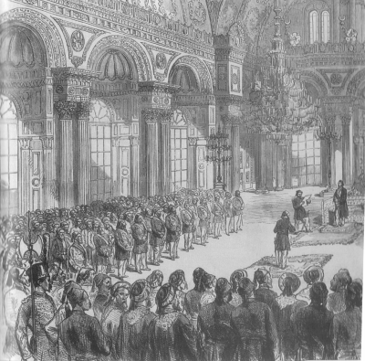 London news c1877 - Proclamation of the Ottoman Constitution of ...