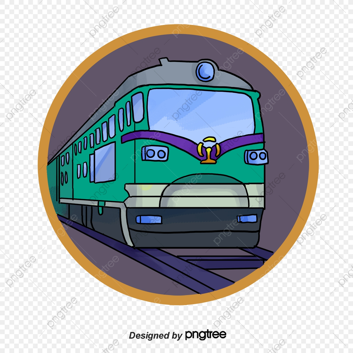 Cartoon Locomotive Icon, Metro, Railway, Subway Cartoon PNG and ...