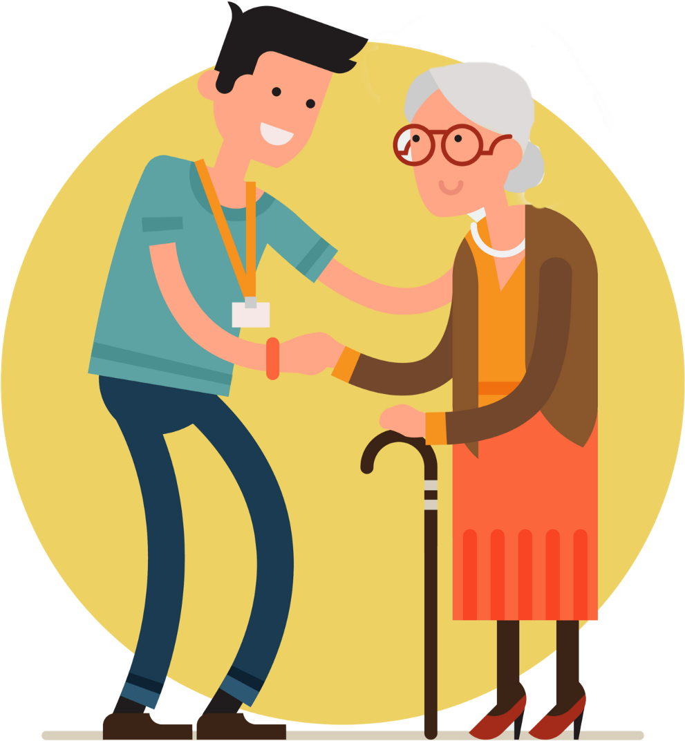 Medicinal Clipart Elderly Care - Elderly Vector - Png Download ...