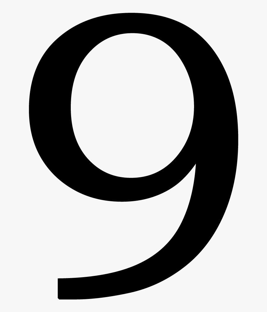 Number 6 Clipart Individual Number - Number 9 Transparent, HD Png ...