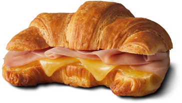 Download HD Croissant With Ham & Cheese - Ham And Cheese Toasted ...