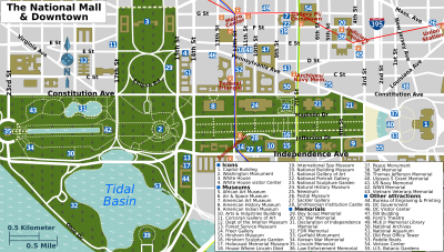 washington dc mall map printable | Description National Mall map ...