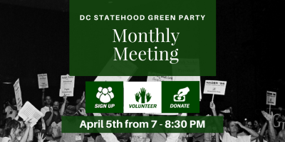 DC Statehood Green Party March Newsletter - www.gp.org