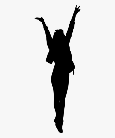 Abstract Woman Arms Up Silhouette Png Jpg Royalty Free - Girl ...