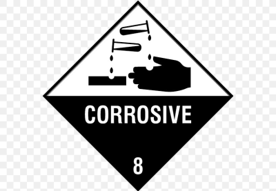 Paper HAZMAT Class 8 Corrosive Substances Dangerous Goods Sticker ...