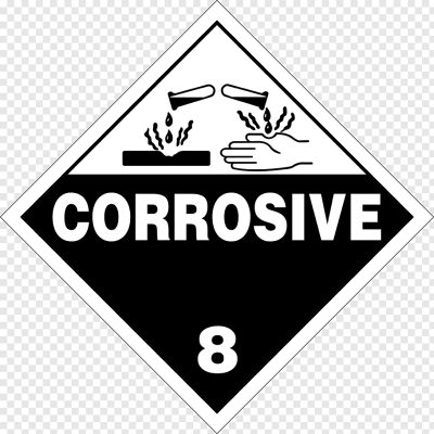 HAZMAT Class 8 Corrosive substances Dangerous goods Placard ...