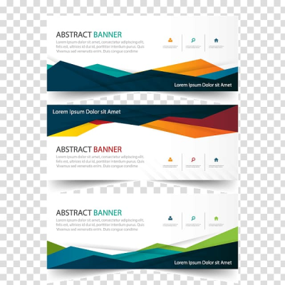 Abstract banner illustration, Advertising Web banner, ads template ...