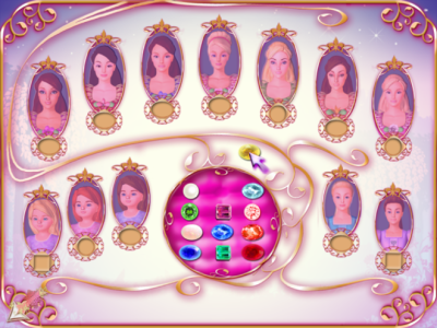 Princesses' still from the game - Barbie in the 12 Dancing ...