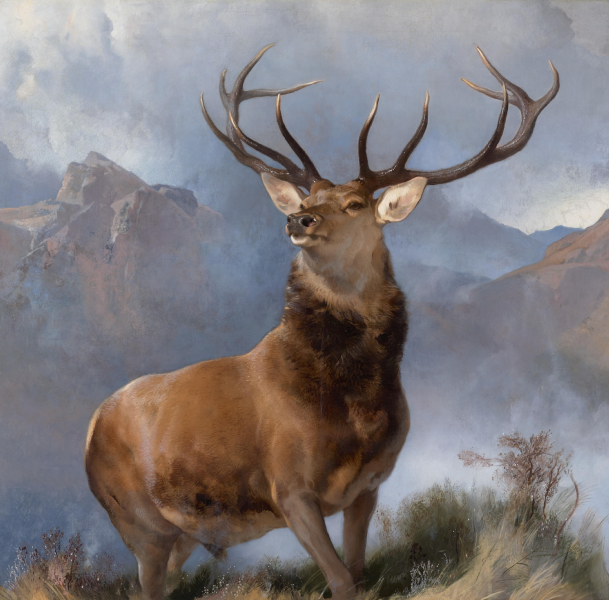 File:The Monarch of the Glen, Edwin Landseer, 1851.png - Wikimedia ...