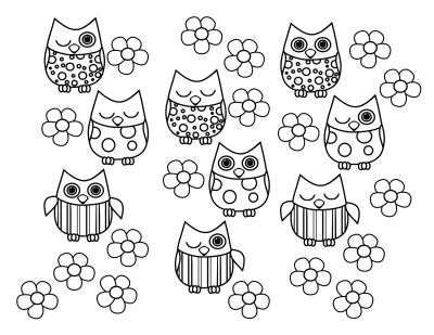 Cute Baby Owl Coloring Pages | High Quality Coloring Pages - Clip ...