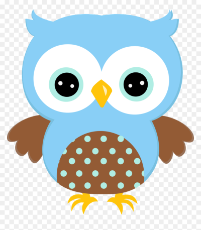 Cute Blue Owls Group With 50 Items - Blue Owl Clipart, HD Png ...