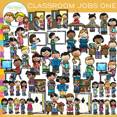 Classroom Jobs Clip Art - Set One , Images & Illustrations ...