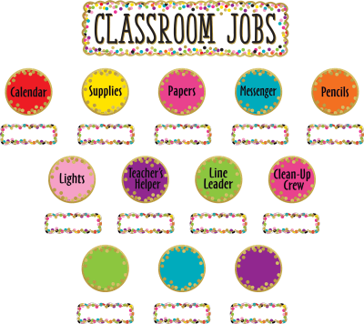 Confetti Classroom Jobs Mini Bulletin Board - TCR8802 | Teacher ...