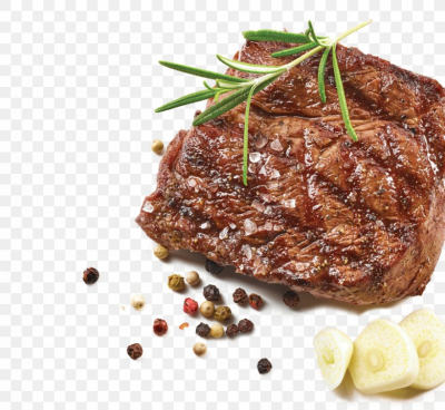 Rib Eye Steak Game Meat Steak Au Poivre Roast Beef, PNG, 900x829px ...
