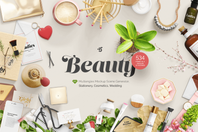 Beauty Mockup Scene Generator (500+ Items) - only $24! - MightyDeals