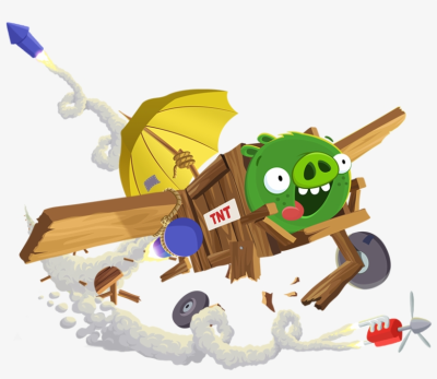 Pig Plane - Bad Piggies 2 Game Online Transparent PNG - 828x679 ...
