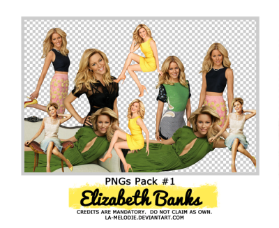 Elizabeth Banks PNG Pack by La-melodie on DeviantArt