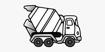 Dump Truck Clipart Construction - Cement Truck Coloring Pages, HD ...