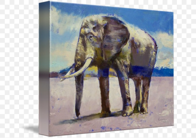 Impressionism Painting Indian Elephant Contemporary Art, PNG ...