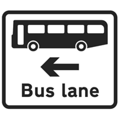 BUS LANE AHEAD ROAD SIGN Logo | Logos Rates