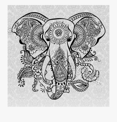 Clipart Elephant Tribal - Coloring Sheet Mandala Coloring Pages ...
