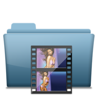 Blue Folder Movie Icon - Leomx Icons - SoftIcons.com