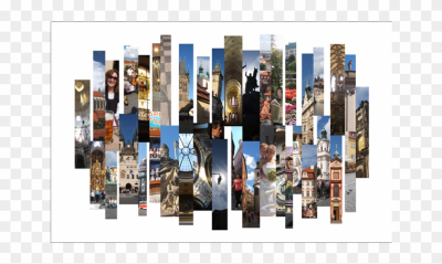 Collage Photography By Stephen Kline - Cityscape, HD Png Download ...