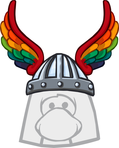 Rainbow Winged Helm | Club Penguin Wiki | Fandom