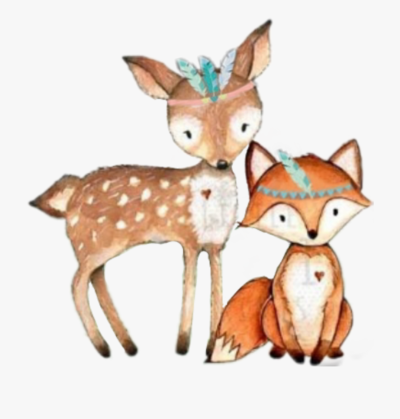 Tribal Fox Deer Woodland Forest Animals - Fox Tribal Woodland ...