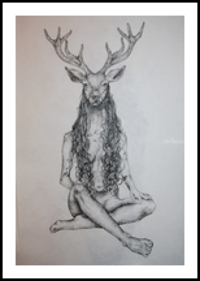 The Deer Woman Decorative Arts, Drawings / Sketch, Folk Art ...