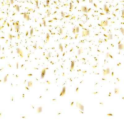 Gold Confetti 1909, Confetti, 2018, Holiday PNG and Vector with ...