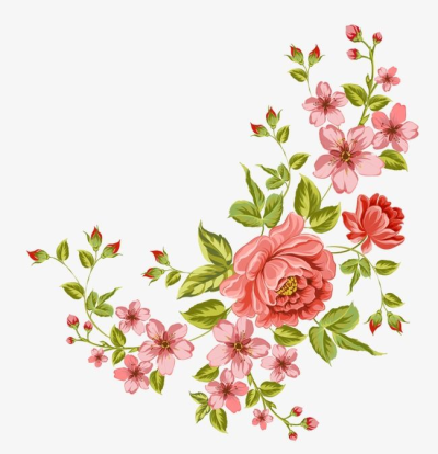 Corner Flower, Flowers, Decorative Flower PNG Transparent Clipart ...