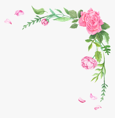 Fresh Flower Transparent Decorative Free Png - Border Flowers Png ...