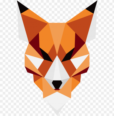 eometric fox art png - animal made out of shapes PNG image with ...