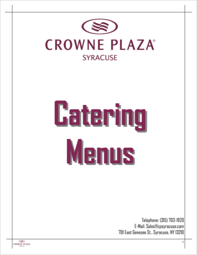 Best Catering in Syracuse, NY | Syracuse Hotels | Crowne Plaza ...