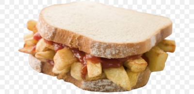 Chip Butty French Fries Fish And Chips British Cuisine White Bread ...